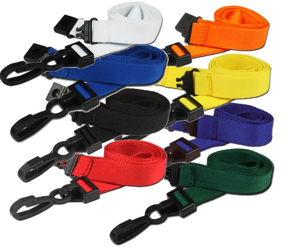 DELUXE - NECK STRAP LANYARD ID CARD BADGE HOLDER PLASTIC CLIP 15mm wide 080905060