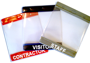 Visitor Paper Pass Holder Pre Printed